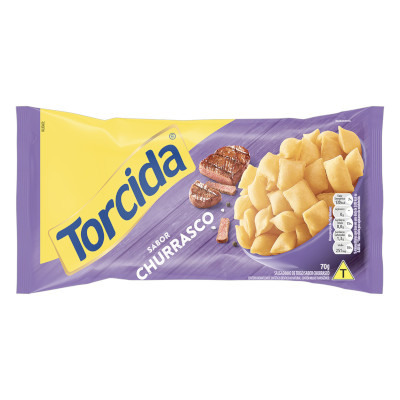 Salgadinho sabor Churrasco pacote 70g Torcida PCT