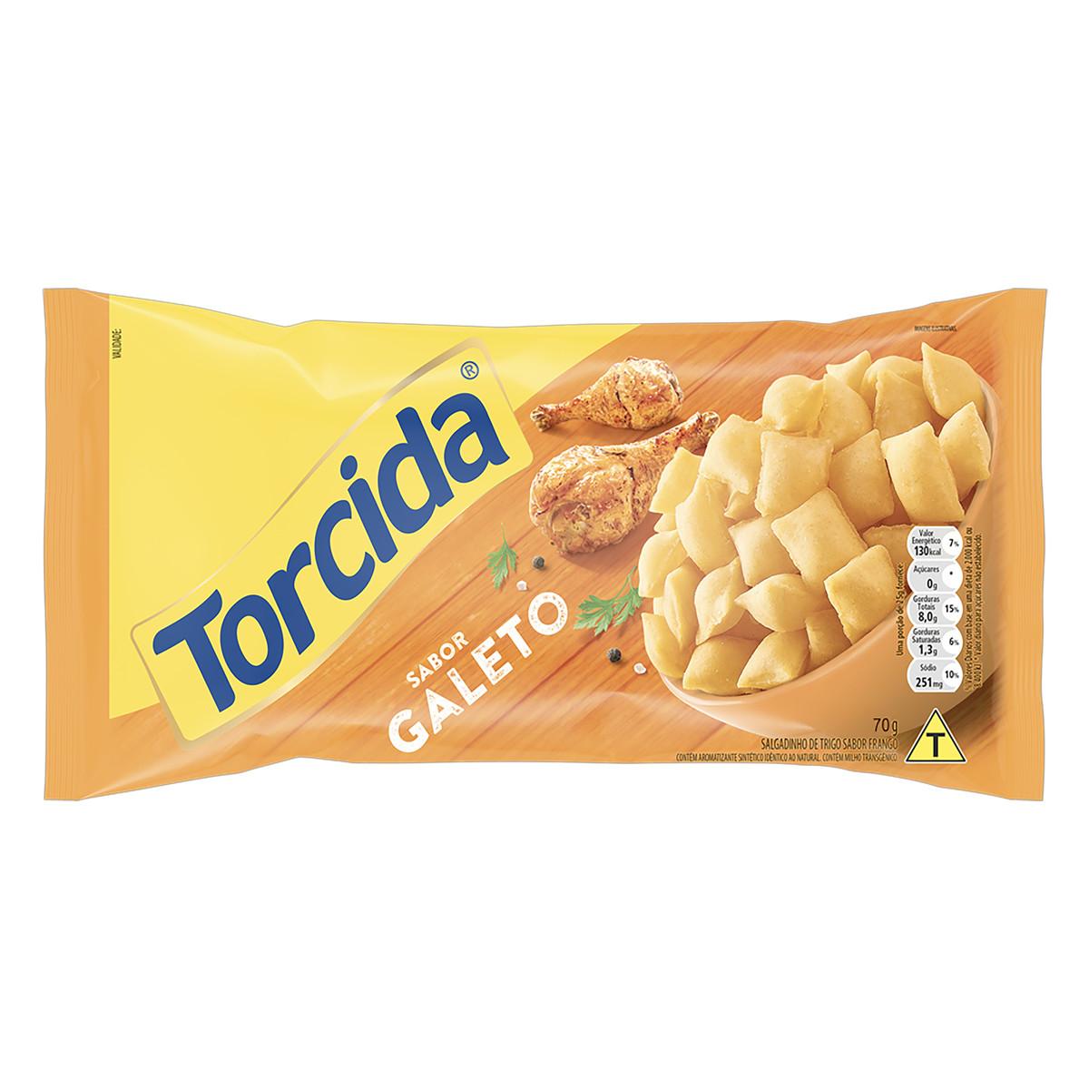 Salgadinho sabor Galeto 70g Torcida pacote UN