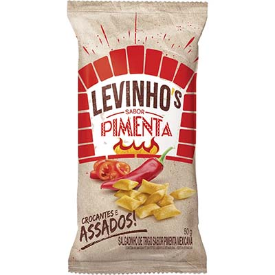 Salgadinho sabor pimenta 50g Levinho's pacote UN