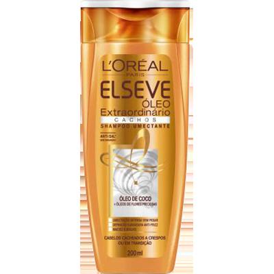 Shampoo cachos 200ml Elseve/Óleo Extraordinário UN