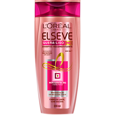 Shampoo quebra liso 230°C 200ml Elseve  UN