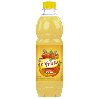 Suco concentrado sabor cajú 500ml Dafruta garrafa UN