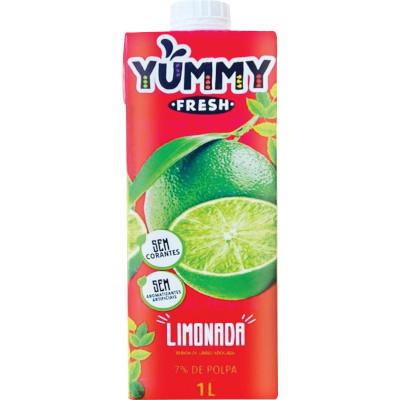 Suco  sabor Limonada 1Litro Yummy Tetra Pak UN
