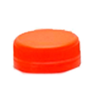 Tampa descartável de plástico laranja para garrafa pacote 100 unidades Maluger UN