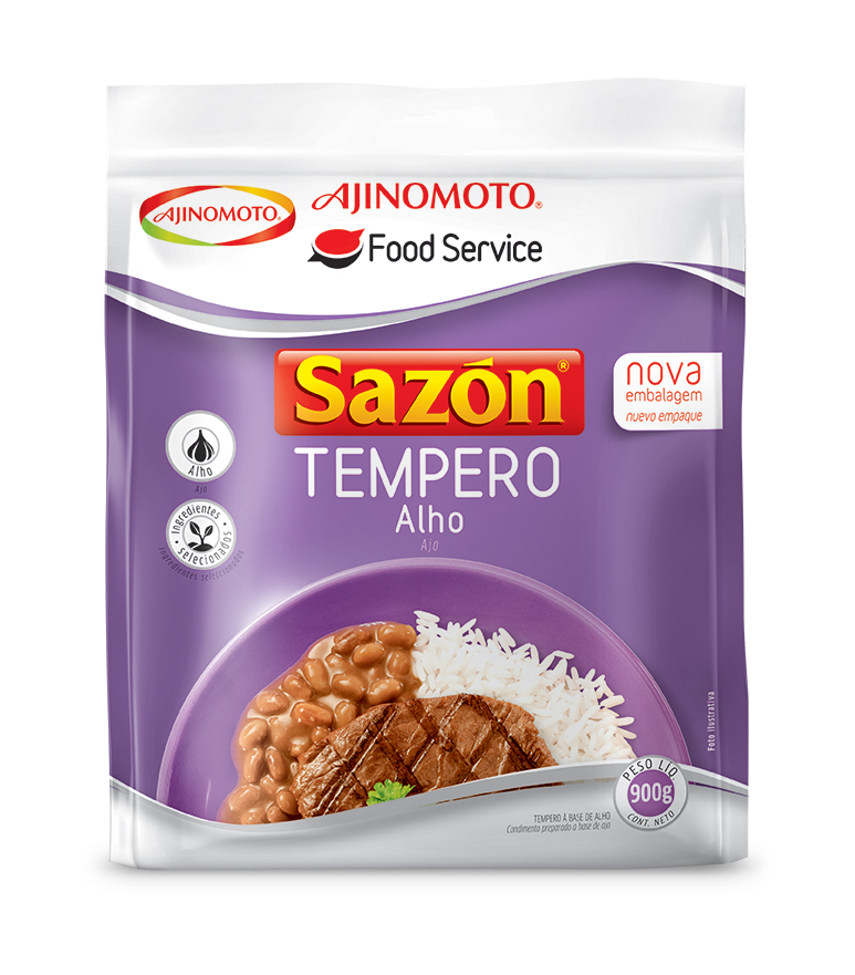 Tempero de alho pacote 900g Sazon PCT