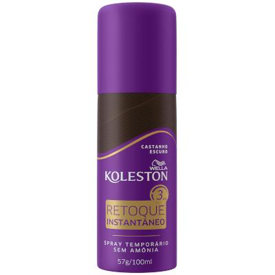 Tintura para Cabelo spray retoque instantâneo castanho escuro 100ml Koleston/Wella frasco UN