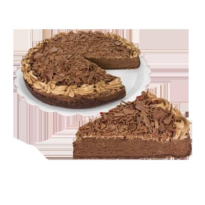 Torta brownie de chocolate 14 fatias 1,5kg Empório das tortas  UN