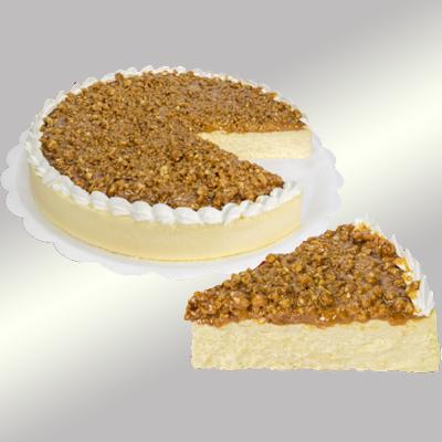 Torta crocante caramelizada 14 fatias 1,5kg Empório das tortas  UN