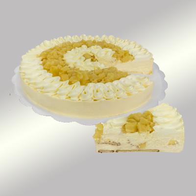 Torta de abacaxi 14 fatias 1,5kg Empório das tortas  UN