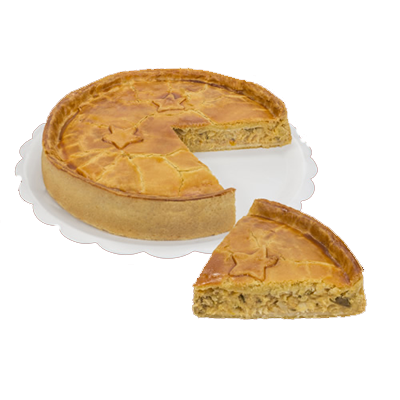 Torta de bacalhau 10 fatias 1,7kg Empório das tortas  UN