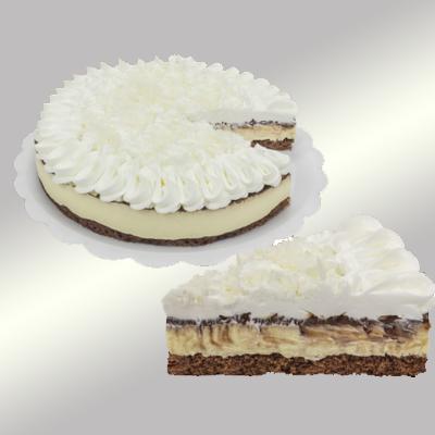 Torta de coco com bolo de chocolate 14 fatias 1,5kg Empório das tortas UN