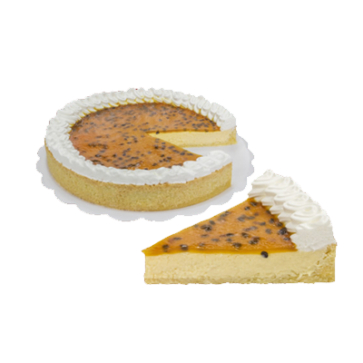Torta de maracujá 14 fatias 1,5kg Empório das tortas  UN