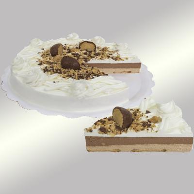 Torta sonho de valsa 14 fatias 1,5kg Empório das tortas  UN