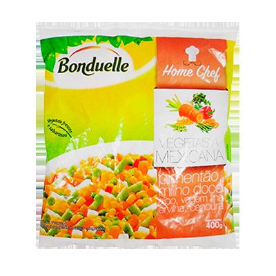 Vegetais a Mexicana congelado 400g Bonduelle pacote UN