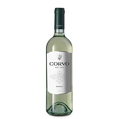 Vinho branco Italiano 750ml Corvo garrafa UN