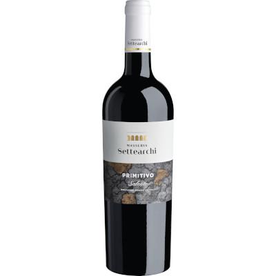 Vinho tinto Italiano Primitivo Di Manduria 750ml Settearchi garrafa UN