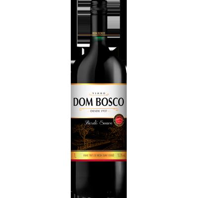 Vinho tinto Nacional Bordô suave garrafa 1Litro Dom Bosco UN