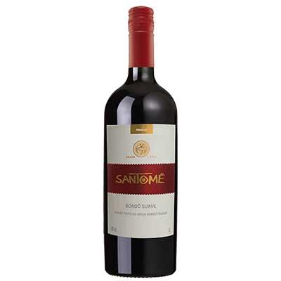 Vinho tinto Nacional Bordô suave 1Litro SanTomé garrafa UN