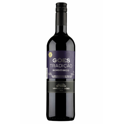 Vinho tinto Nacional seco 720ml Góes garrafa UN