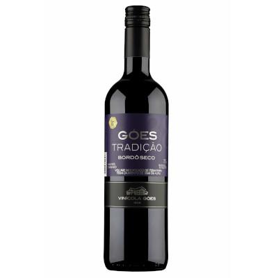Vinho tinto Nacional seco 750ml Góes garrafa UN