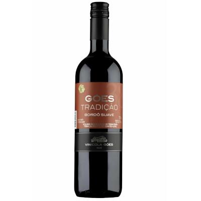 Vinho tinto Nacional suave 720ml Góes garrafa UN
