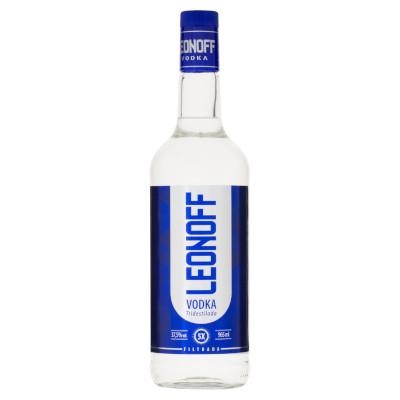 Vodka  de 900ml a 1Litro Leonoff garrafa UN
