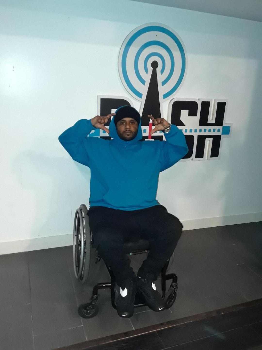 <p>Despite being shot and paralyzed 15 years ago, rapper August Bleu refuses to let that harrowing event define him. (Courtesy of August Bleu)</p>