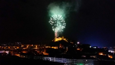 Fogo de artifício no dia da cidade