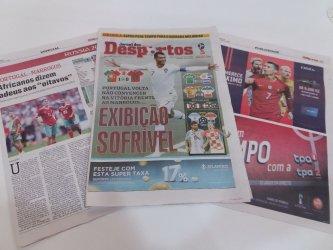 Seleção Portuguesa de Futebol é tema de capa em Angola