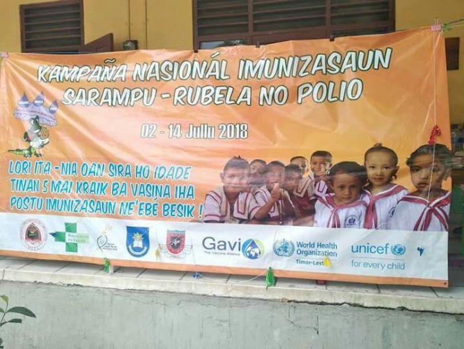 Campanha de Vacinação Nacional de Imunização Sarampo, rubéola e poliomielite