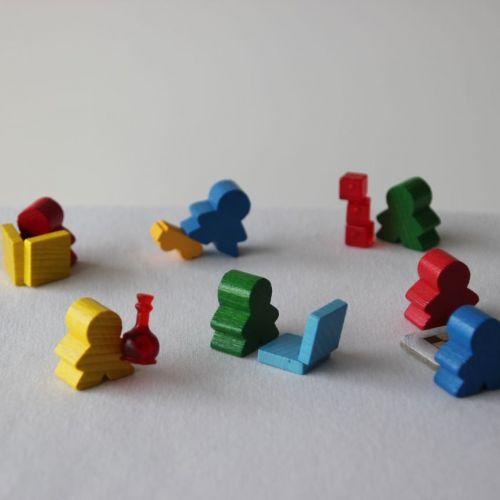 Cada dia uma fotografia nova com peças de jogos de tabuleiro