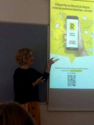 """Alunos do 5º ano da EBSO aprendem a fazer notícias com a app do """"Região de Leiria"""""""