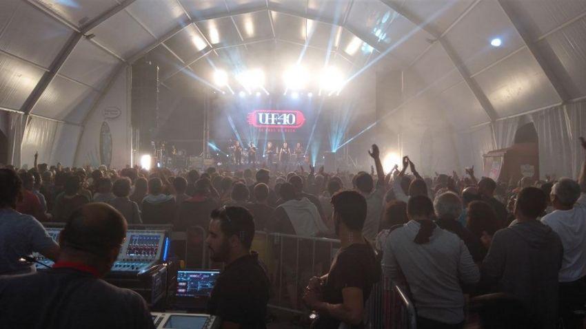 Grupo UHF no Festival de Sardinha