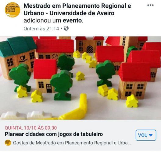 Planear as cidades com jogos de tabuleiro