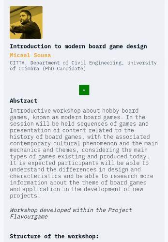 Workshop da conferência nacional de videojogos