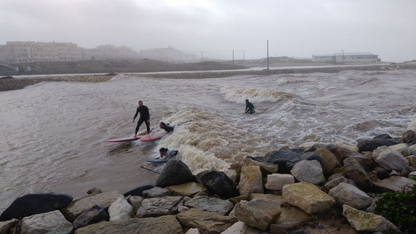 Surf na foz do rio Lis