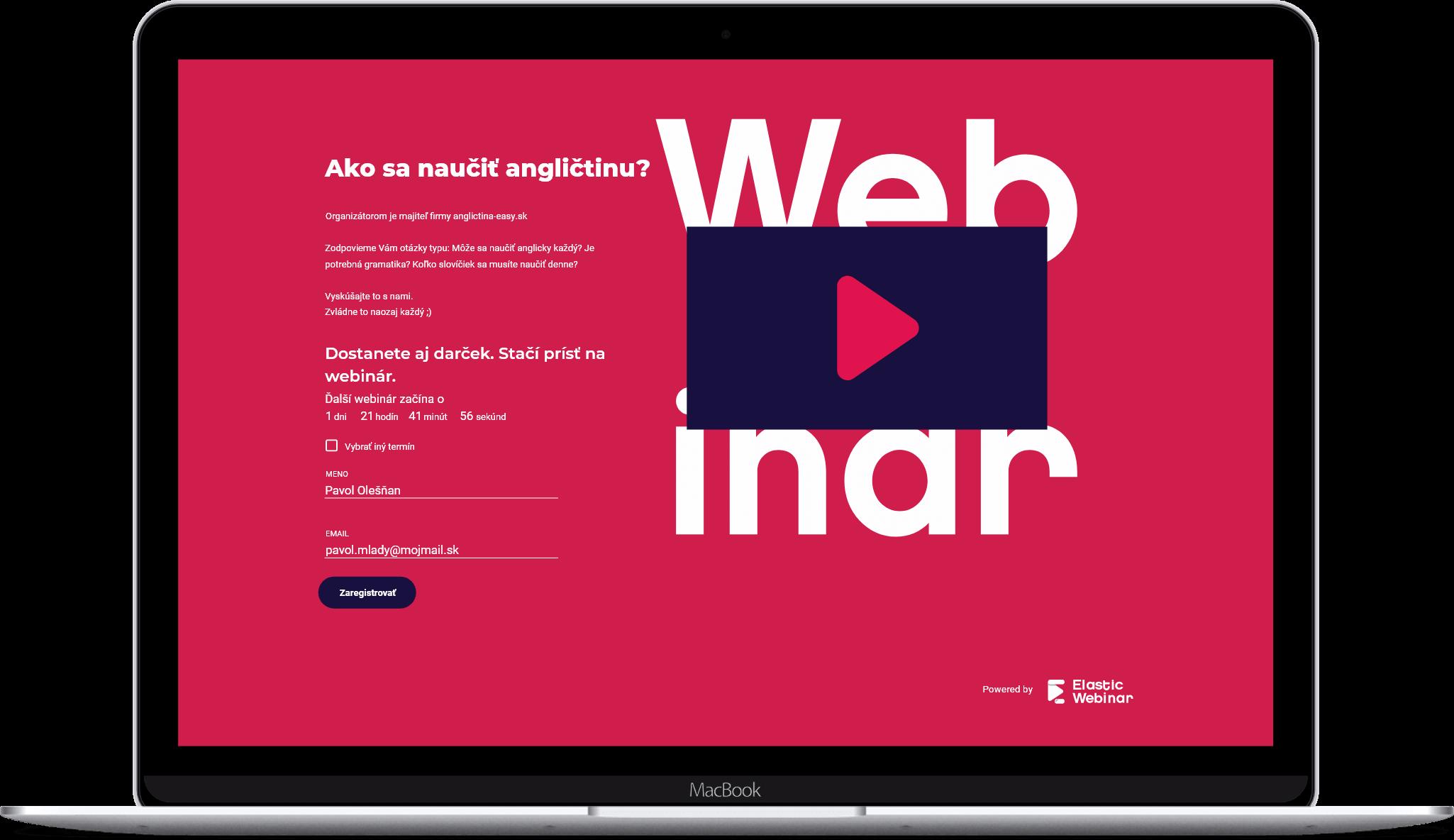 Registračné stránky webinárov