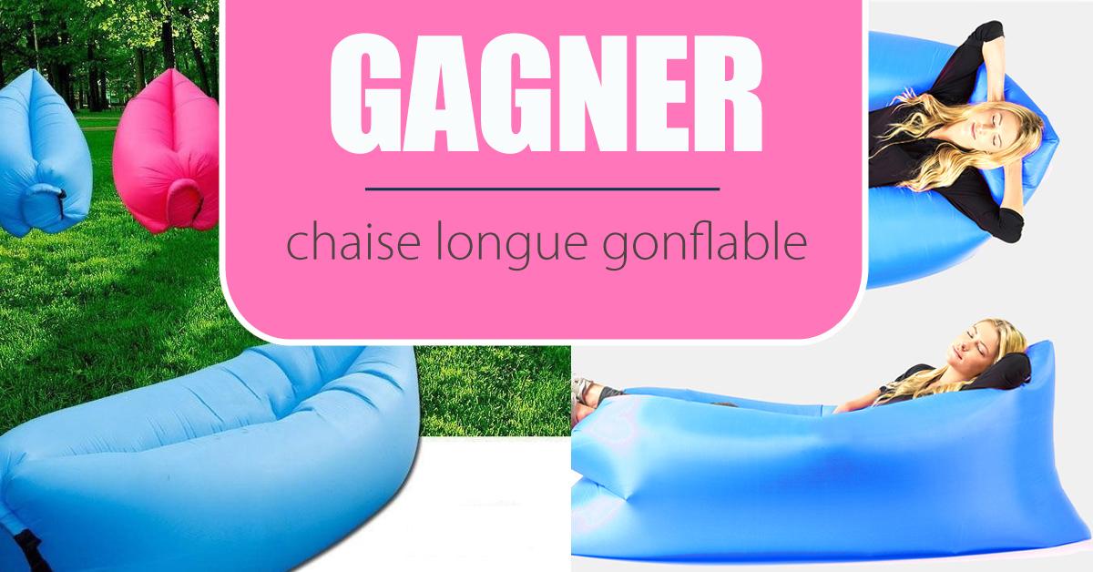 Gagnez une chaise longue gonflable