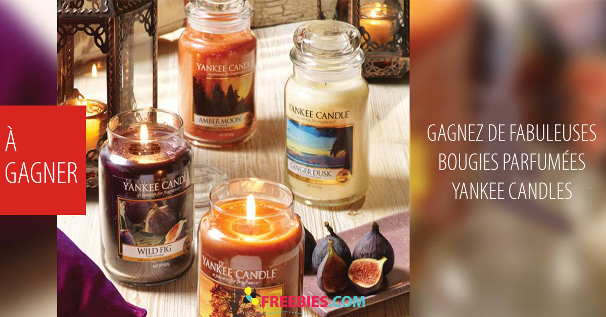 Gagnez des bougies Yankee Candles