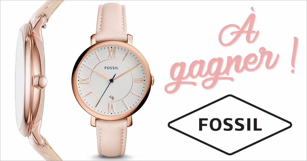 Gagnez une montre Fossil rose!