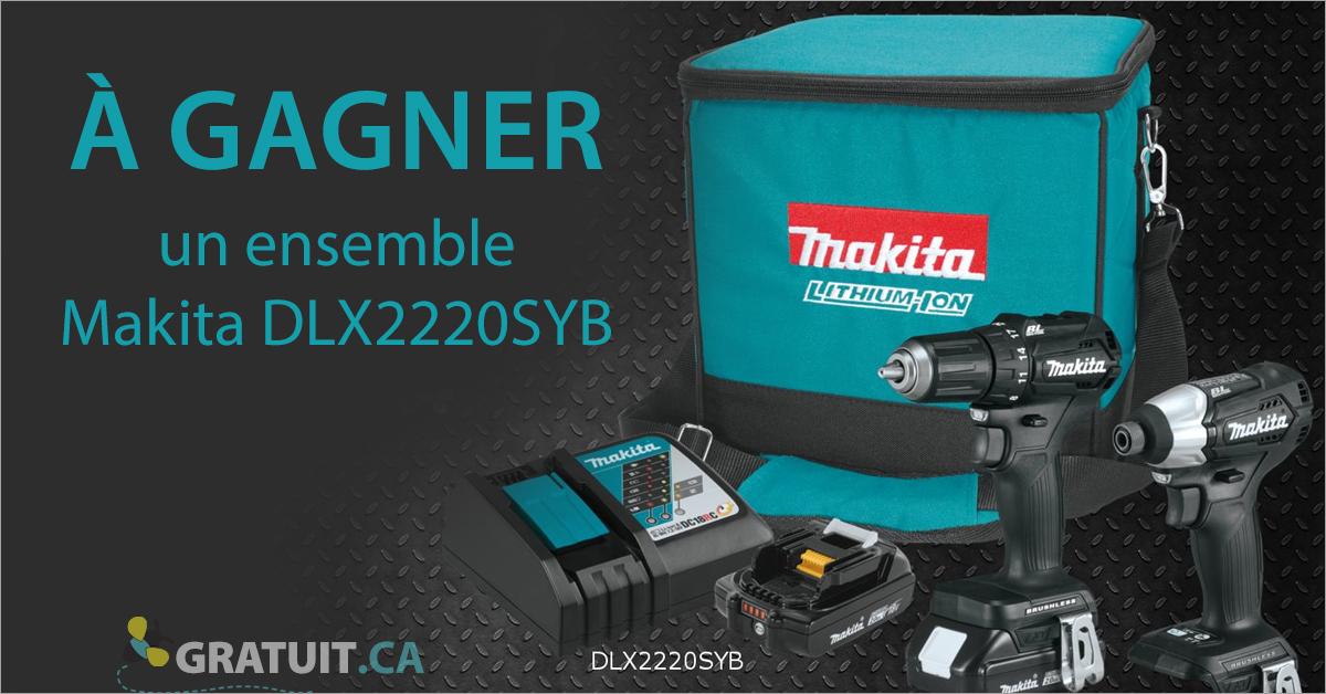Gagnez un ensemble d'outils Makita