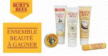Gagnez un ensemble beauté Burt's Bees