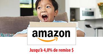 Recevez 4% de remise en argent pour vos achats sur Amazon.ca!