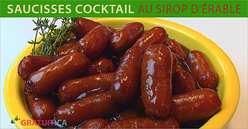 Saucisses cocktail au sirop d'érable