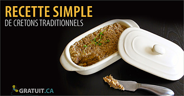 Recette simple de cretons traditionnels