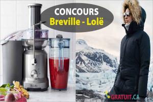 Gagnez un prix Breville, Lolë et plus