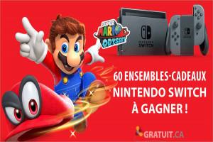 Gagnezun des 60 ensembles-cadeaux Nintendo Switch