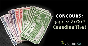 Gagnez 2 000 $ Canadian Tire