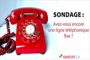 Avez-vous encore une ligne téléphonique fixe?