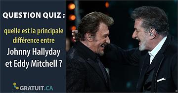 Quiz : quelle est la principale différence entre Johnny Hallyday et Eddy Mitchell?